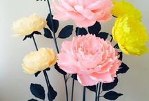 Paper flowers / This is my job)