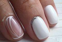 ногти белые