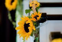Julia Adam's  wedding decoration / Sunflower wedding decoration