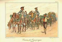 Artillerie d'empire / Train d'artillerie et artillerie uniforme