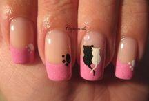 Violet and pink Nails / Violet and pink Nails