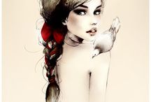 illustrations filles