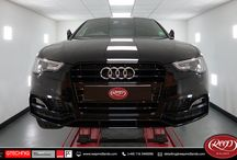 """Audi A5 / The proud owner of this black 2016 Audi A5 treated it to a Gtechniq """"Crystal Serum"""" gloss enhancement package together with a single stage polish using Koch-Chemie, Rupes and Swissvax products."""