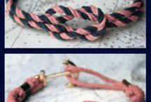 DIY Rope Bracelets / DIY ideas for rope bracelets & hand-made jewelry.