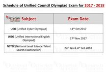 Olympiad Exam Dates 2017 - 2018