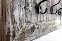 rustic coat rack & key hook