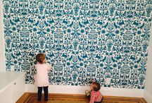 Emily Isabella for Hygge & West / Images of our wallpaper collection designed by Emily Isabella in action! Check out examples of Otomi in several colorways. / by Hygge & West