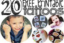 kids temporary tattoos