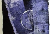 "Valerie Taylor leaf prints / Moon 1 Ink on rag paper 8"" W by 12"" H"
