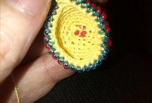 Beaded beads uncinetto perline (crochet) / Palline all'uncinetto prime prove