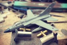 Behind the scenes of making our cufflinks / Some photos from the workbench of our cufflinks being made