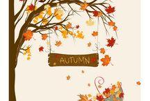 Otoño / Mesas de otoño, hojas, colores en tonos ocres... Inspiración otoñal!