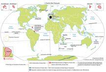 """TBacPro-G1 : """"La France dans l'UE et dans le monde"""" / Ce tableau contient des épingles concernant le 1er sujet d'étude du programme de géographie de Terminale bac pro."""