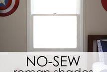 No sew roman blinds