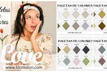 Paletas de Colores / Combinaciones en colores creativos..
