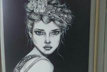 KRA art - Alice / acrylic painting, drawing