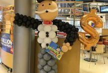Monopoly balloon column