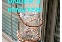 Things You Can Do With Mason Jars / Amazing mason jar crafts, storage, miniature terrariums, bird feeders and more...