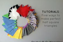 Quilt Ideas - Half Square Triangles / Patterns and tutorials on Half Square Triangles