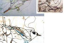 stitched birds
