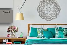 Mandalas - Stencils decorativos Para Parede