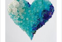 AMAZING SEA  GLASS DECO