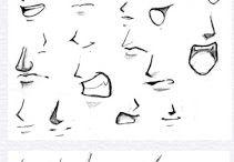 elementy głowy szkic