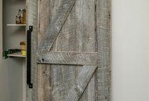 rustic sliding bar door