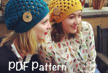 Knitting, crochet, sewing, macrame