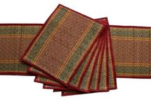 Amazon - Table Placemats from SouvNear / SouvNear brings you a range of handmade table runners, placemats, area rugs and yoga mats in stunning colors. Expert Indian artisans have woven these mats using Darbha / Kusha grassm, bamboo and various multi-colored threads. Besides adding beauty to your home, these mats are portable and travel-friendly too. So you can easily roll them up and put them in a bag. Take them along on your picnics, beach outings and wherever you go.
