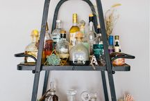 Home bars / Every home should have a bar whether it's an elegantly display of gorgeous bottles on a tray or a full on bar it's a must have for the elegant home owner.