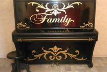 Идеи для дома / декор старого пианино