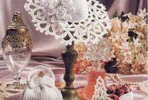 Crochet wedding slippers