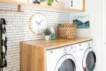 Espacio para lavadoras