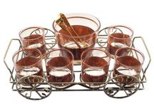 Vintage Glassware Caddy Sets / Celebrating one of the greatest mid century home entertaining marvels - Glass Caddys! Everything you need for your home bar beautifuly contained in one place  & ready to pick up & serve in any room!