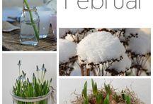 Februar Deko