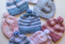 knitted new born hats