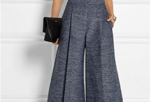 pattern trousers