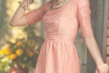blushing bridesmaid dress