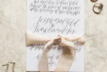 Stationery Inspiration / Wedding stationery sets the tone for your wedding and let's your guests know early just how gorgeous your wedding shall be.