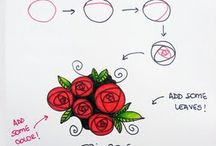 doodle flowers - how to draw