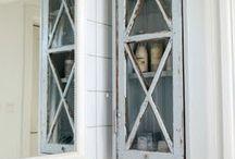 Skåp fönster