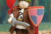 Muñecos de madera  / Divertidos y creativos muñecos de madera articulados