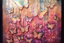 crackle board butterflies