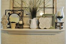 Fireplaces & Mantels; Cloches & Jars / by Debi Koenig