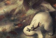 Jackalope / Mythical Jackalope Art works