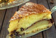 torta sofice con le pere e cioccolato
