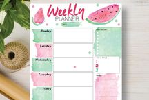 Weekly Printable Planners / These Weekly Printable Planners are available from our Etsy store in many designs and in convenient 3 and 5 packs. They come in Personal, A4, Letter and A5 sizes and include our popular Watercolor, Dream Catcher, Pineapple and Watermelon designs.