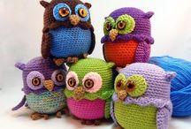 Crochet owls