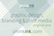Phink Ink | Graphic Design / My husband and I run our own web, print & multimedia business, Phink Ink.  View samples of our work here, and visit our website, http://www.phinkink.com, for more information.  Contact us today!  We hope to work with you soon!